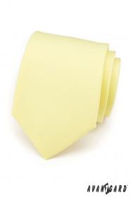 Jemne žltá kravata matnej farby