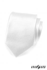Jednoduchá hladká biela pánska kravata