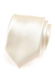 Lesklá kravata smotanovej farby