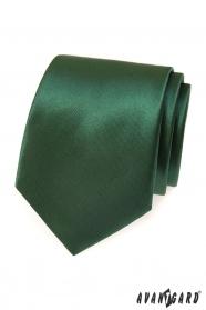 Tmavo zelená pánska kravata