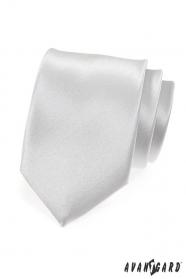 Hladka strieborná kravata