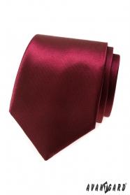 Lesklá pánska kravata bordová