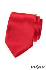 Pánska kravata hladká červená