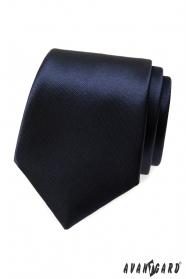 Pánska kravata - tmavomodrá lesk