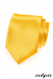 Pánska kravata - Žltá s leskom