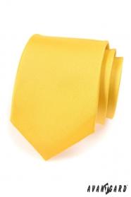 Kravata AVANTGARD matná žltá