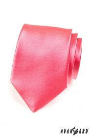 Jednofarebná pánska kravata tmavší ružová