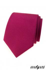 Pánska kravata v matnej bordovej farbe