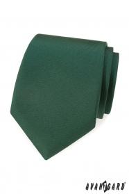 Tmavo zelená matná kravata