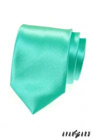 Lesklá mätovo zelená kravata