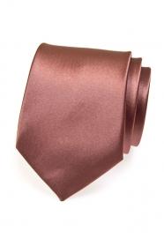 Kravata jednofarebná hnedá s leskom