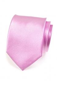 Jednofarebná lesklá kravata Lila