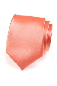 Pánska kravata koralový odtieň