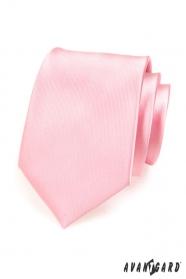 Pánska kravata ružová lesk
