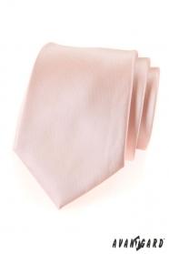 Pánska kravata lososovej farby