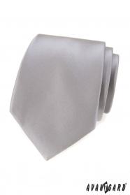Šedá klasická pánska kravata