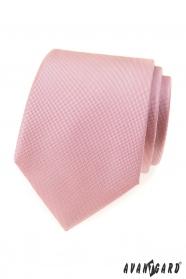 Štruktúrovaná kravata púdrovo ružovej farby