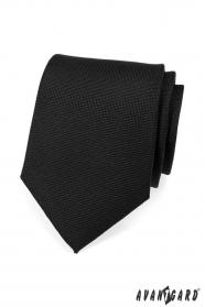 Pánska kravata LUX čierna matná