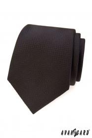 Hnedá kravata s bodkovanou štruktúrou