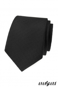 Čierna štruktúrovaná kravata Avantgard