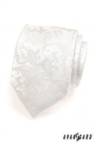 Pánska kravata LUX 18 - Smotanová so vzorom