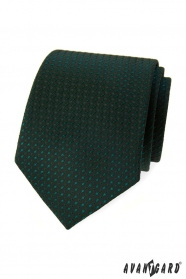 Tmavo zelená kravata s lesklým vzorom