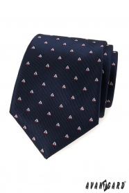 Modrá kravata vzor plachetnica