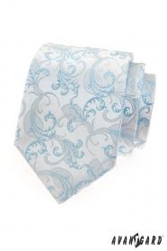 Pánska kravata modrý motív