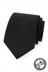 Čierna bavlnená kravata