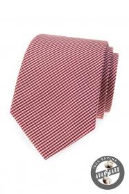 Bavlnená kravata s prúžkom v bordó