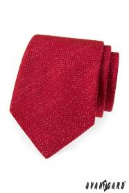Červená kravata s modernou štruktúrou