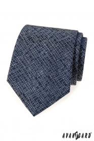Tmavo modrá kravata s moderným vzorom