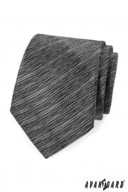 Čierno šedá žíhaná kravata Avantgard