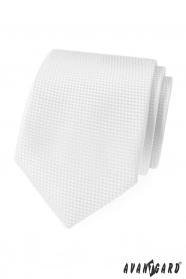 Biela štruktúrovaná kravata Avantgard Lux