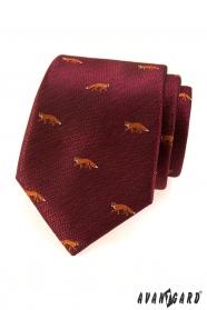 Bordó kravata - líška