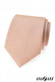 Kravata púdrové farby s bodkami