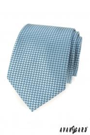 Tyrkysová kravata s modrým vzorom
