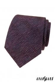 Pánska kravata s bordó vzorom