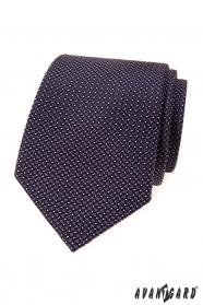 Pánska kravata s fialovými štvorčeky