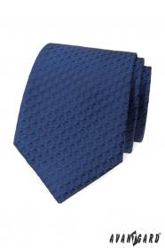 Modrá kravata s 3D vzorom