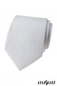 Svetlo šedá kravata s 3D vzorom