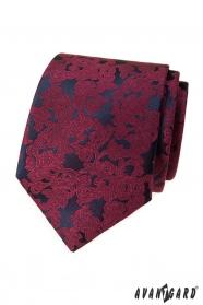 Pánska kravata s vínovým vzorom