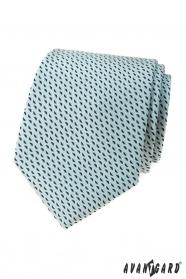 Svetlo mätová kravata s modrým vzorom