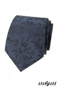 Modrá štruktúrovaná kravata so vzorom