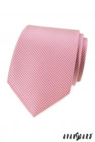 Ružová kravata s drobnými bodkami