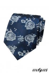 Modrá kravata, biele ruže