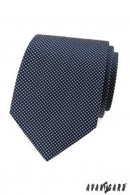 Modrá bodkovaná kravata