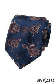 Modrá kravata, červené ruže