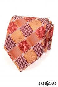 Pánska kravata veľké červené kocky