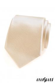 Jednofarebná kravata vo farbe Ivory